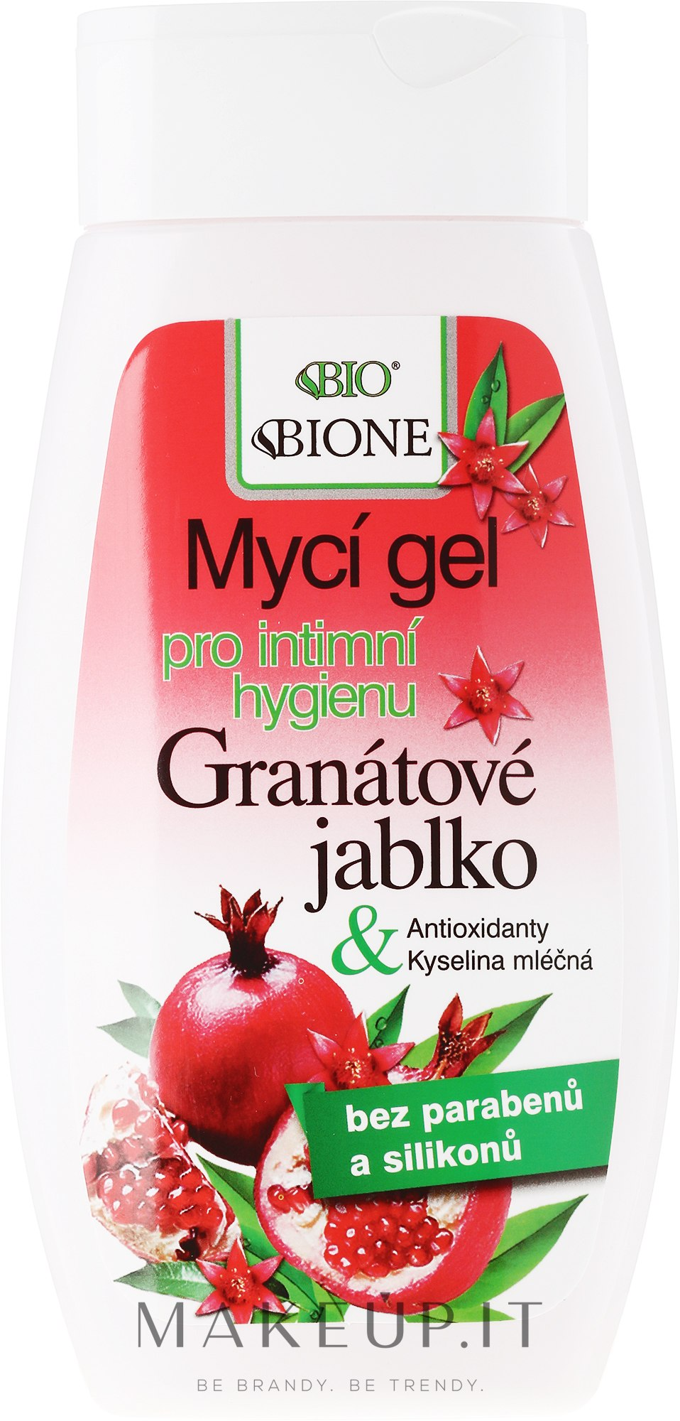Detergente intimo - Bione Cosmetics PomegranateI ntimate Wash Gel With Antioxidants — foto 260 ml