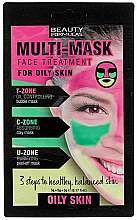 Profumi e cosmetici Maschera viso per la pelle grassa - Beauty Formulas 3-Step Multi Mask Face Treatment Oily Skin