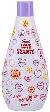 Profumi e cosmetici Gel doccia - Swizzels Love Hearts Juicy Blueberry Body Wash