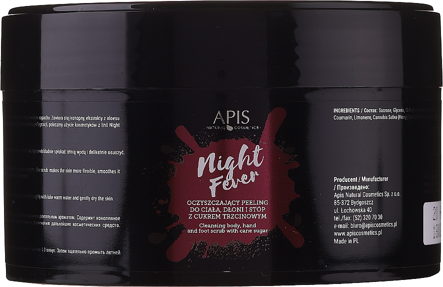 Peeling detergente corpo e mani - Apis Professional Night Fever Peelling For Body, Hand And Foot — foto N1