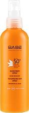 Profumi e cosmetici Spray solare SPF 50+ - Babe Laboratorios Sunscreen Spray SPF 50+