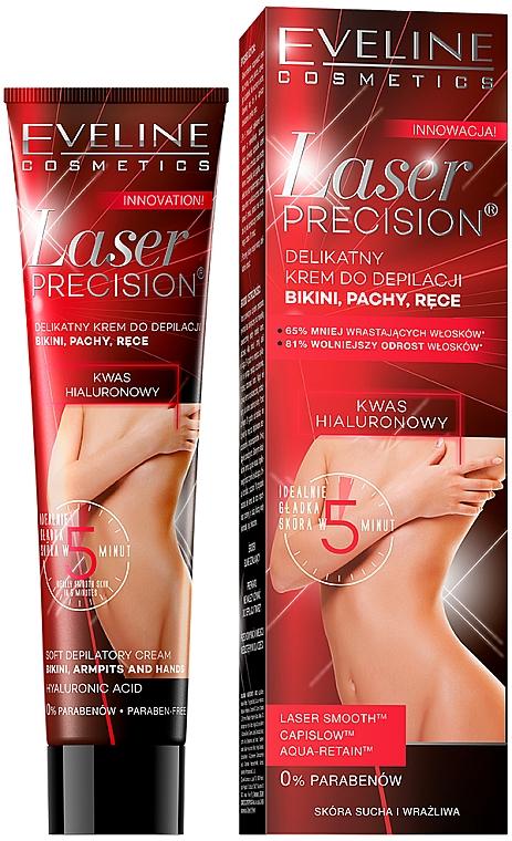 Crema depilatoria zona bikini, ascelle e mani - Eveline Cosmetics Laser Precision