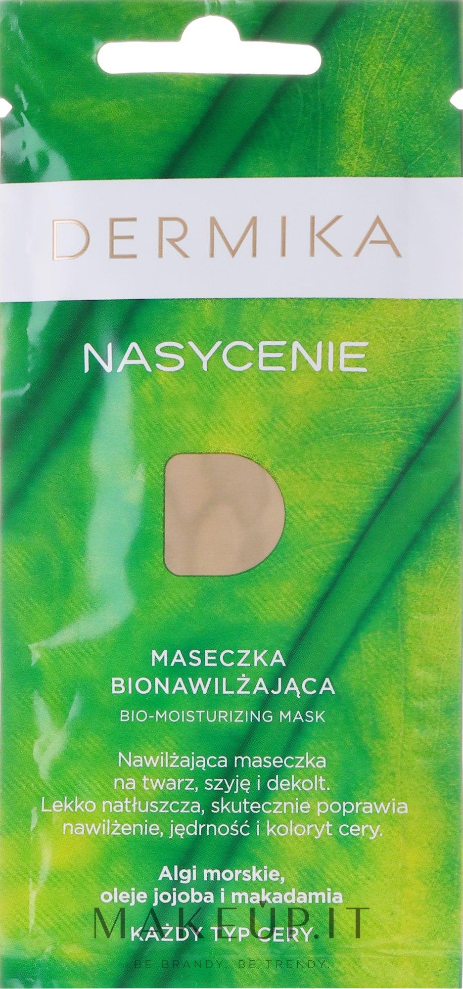 Maschera idratante per tutti i tipi di pelle - Dermika Plenitude Bio-Moisturizing Mask — foto 10 ml