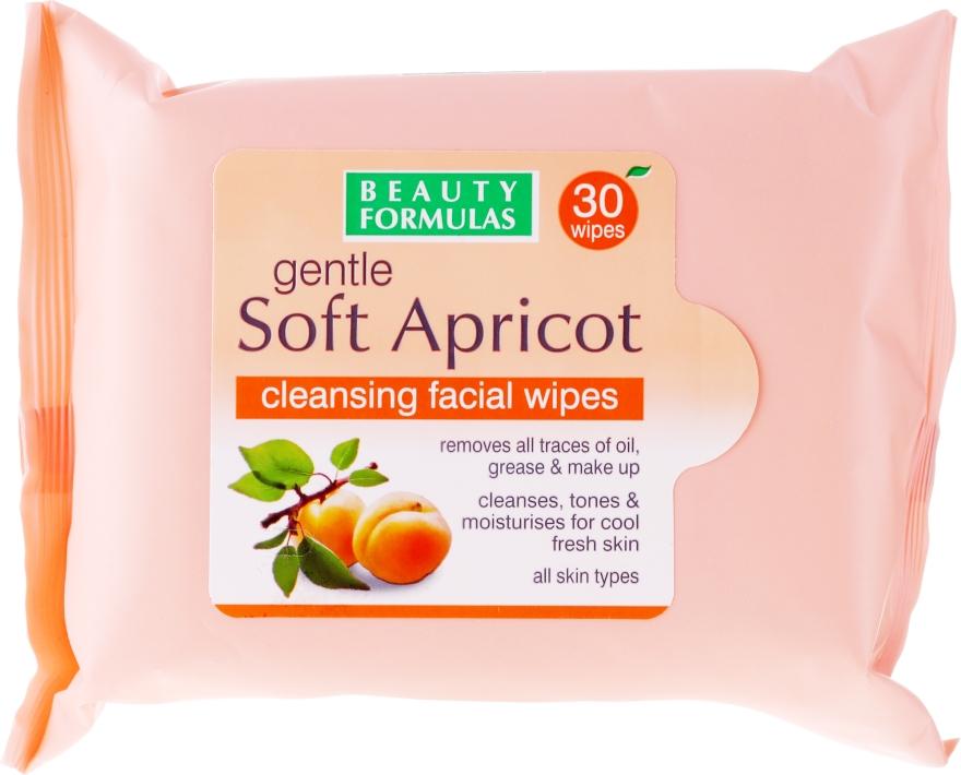 Salviette detergenti viso - Beauty Formulas Gentle Soft Apricot Cleansing Facial Wipes