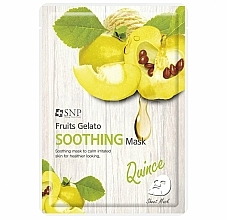 Profumi e cosmetici Maschera viso calmante alla mela cotogna - SNP Fruits Gelato Soothing Mask