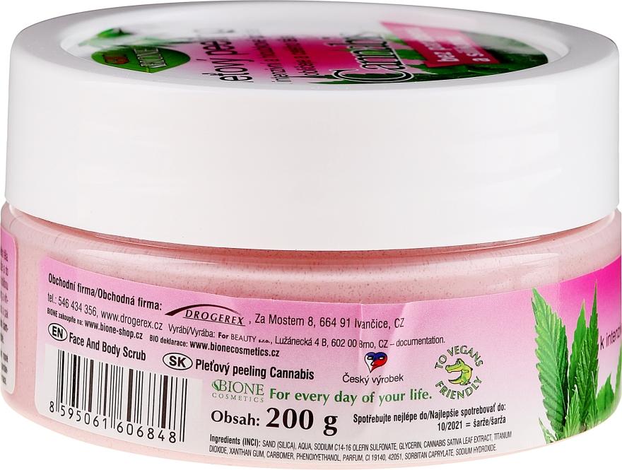 "Peeling per viso e corpo ""Canapa"" - Bione Cosmetics Cannabis Face Peeling — foto N2"
