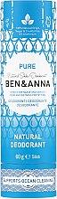 """Profumi e cosmetici Deodorante a base di soda """"Purezza"""" (cartone) - Ben & Anna Pure Natural Soda Deodorant Paper Tube"""