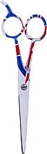 Profumi e cosmetici Forbici da parrucchiere, 5,5 cm - Ronney Professional White Flag London