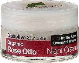 """Profumi e cosmetici Crema viso, da notte """"Rosa"""" - Dr. Organic Rose Night Cream"""