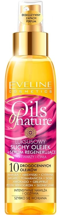 Olio-siero rigenerante per viso e corpo - Eveline Cosmetics Oils of Nature Luxurious Dry Oil Rejuvenating Serum