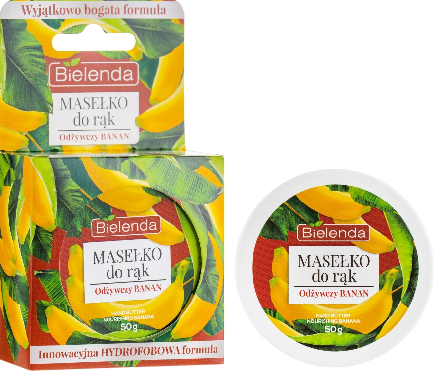 Burro mani ''Banana nutriente'' - Bielenda Hand Butter Nourishing Banana