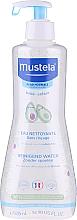 Profumi e cosmetici Acqua detergente per viso e corpo - Mustela Cleansing Water No-Rinsing With Avocado
