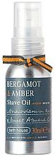 Profumi e cosmetici Bath House Bergamot & Amber - Olio da barba
