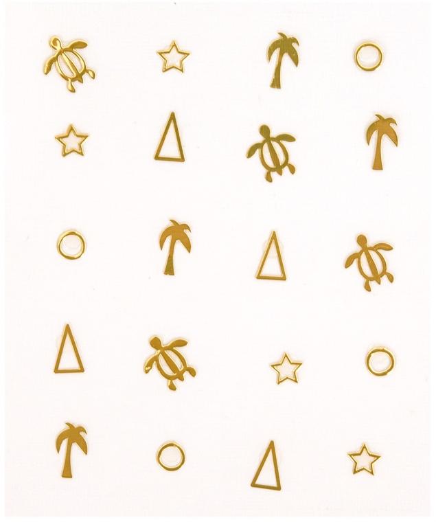 Adesivi decorativi per unghie - Peggy Sage Decorative Metallic Nail Stickers
