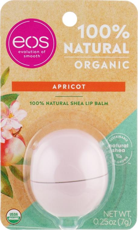 Balsamo labbra all'albicocca - Eos 100% Natural Organic Apricot Lip Balm — foto N1