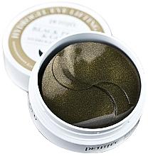 Profumi e cosmetici Idrogel patch con polvere di perla nera ed oro - Petitfee & Koelf Black Pearl&Gold Hydrogel Eye Patch