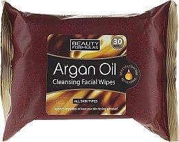 Profumi e cosmetici Salviette struccanti viso - Beauty Formulas Argan Oil Cleansing Facial Wipes
