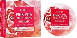 Profumi e cosmetici Patch occhi illuminanti a base d'acqua di rose - Petitfee&Koelf Pink Vita Brightening Eye Mask