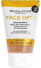 Profumi e cosmetici Maschera viso peeling - Revolution Skincare Face Off! Gold Glitter Face Off Mask