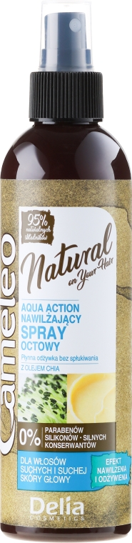 Spray per capelli all'olio di chia - Delia Cameleo Natural On Your Hair Aqua Action Spray