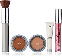 Profumi e cosmetici Set - Pur Minerals Best Sellers Starter Kit Blush Medium (primer/10ml+found/4.3g+bronzer/3.4g+mascara/5g+brush)