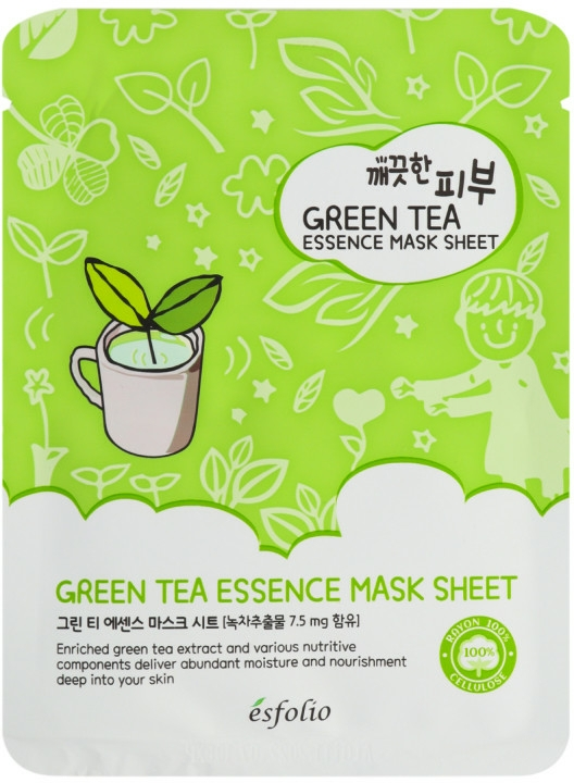 Maschera al tè verde - Esfolio Pure Skin Green Tea Essence Mask Sheet