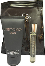 Profumi e cosmetici Jimmy Choo Man - Set (edt/mini/7.5ml + afsh/balm/50ml)