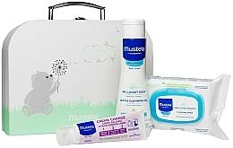 Profumi e cosmetici Set - Mustela With Love (wipes/25szt + b/gel/200ml + cr/50ml + bag)