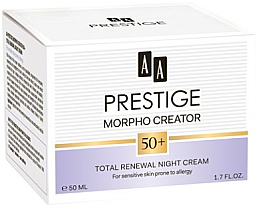 Profumi e cosmetici Crema viso, da notte - AA PR Morpho Creator 50+ Night Cream