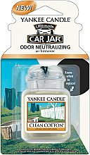 Profumi e cosmetici Profumo per auto - Yankee Candle Ultimate Car Jar Clean Cotton
