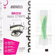 Profumi e cosmetici Set correzione delle sopracciglia - Andmetics Brow Wax Strips Women (strips/4x2pc + strips/4x2pc + wipes/4pc)