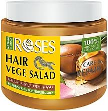 Profumi e cosmetici Maschera per capelli alla rosa e olio di argan - Nature of Agiva Roses Care & Repair Hair Mask