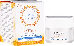 Profumi e cosmetici Crema rigenerante con vitamina C da notte - Lumene Valo [Light] Overnight Bright Vitamin C Sleeping Cream