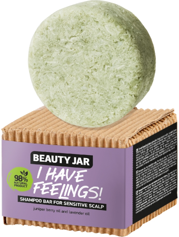 Shampoo solido con olio di ginepro e lavanda - Beauty Jar I Have Feelings