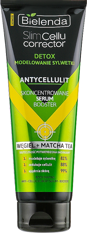 "Siero concentrato anticellulite ""Tè Matcha"" - Bielenda Slim Cellu Corrector Detox Serum Booster"