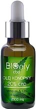 Profumi e cosmetici Olio di canapa CBD 20% - BIOnly