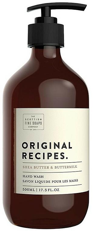 Sapone liquido per mani - Scottish Fine Soaps Original Recipes Shea Butter & Buttermilk Hand Wash — foto N1