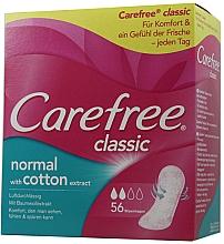 Profumi e cosmetici Assorbenti igienici quotidiani, 56 pezzi - Carefree Classic Normal With Cotton Extract