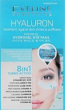 Profumi e cosmetici Patch Rinfrescanti per gli occhi - Eveline Cosmetics Hyaluron Hydrogel Illuminating Eye Pads 8in1