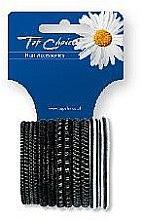 Profumi e cosmetici Elastici per capelli 12 pezzi, nero + argento, 22357 - Top Choice