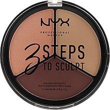 Profumi e cosmetici Palette per contouring viso - NYX Professional Makeup 3 Steps To Sculpting Palette