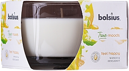 "Profumi e cosmetici Candela profumata in bicchiere ""Mango e bergamotto"", 63/90 mm - Bolsius True Moods Candle"