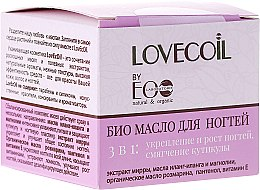 Profumi e cosmetici Bio olio per unghie 3in1 - Eco Laboratorie Lovecoil Nail Care Bio-Oil 3 in 1