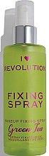 Profumi e cosmetici Spray fissaggio trucco - I Heart Revolution Fixing Spray Green Tea