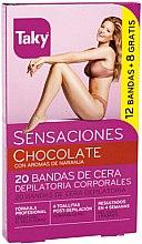 Profumi e cosmetici Strisce depilatorie corpo - Taky Chocolate Body Wax Strips With Orange Fragrance Box