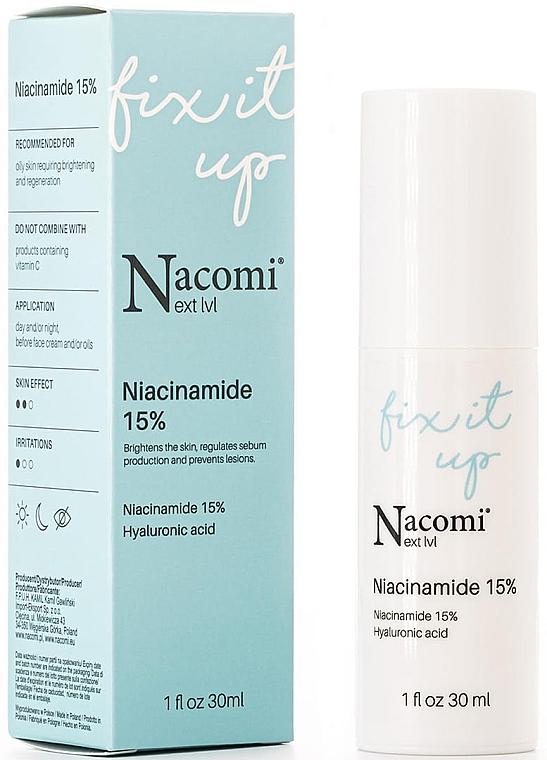 Siero viso con concentrazione del 15% di niacinamide - Nacomi Next Level Niacinamide 15%