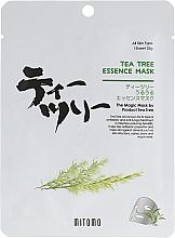 Profumi e cosmetici Maschera viso in tessuto all'olio di melaleuca - Mitomo Tea Tree Essence Mask