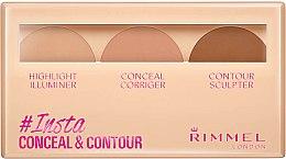 Profumi e cosmetici Set contouring viso - Rimmel Insta Conceal & Contour Palette