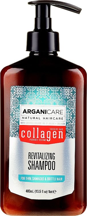 Shampoo al collagene per capelli porosi e indeboliti - Arganicare Collagen Revitalizing Shampoo