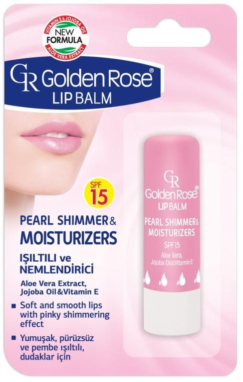 Balsamo idratante labbra - Golden Rose Lip Balm Pearl Shimmer & Moisturizers SPF15 — foto N1